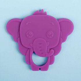 Прорезыватель силиконовый «Слоник», цвет фиолетовый