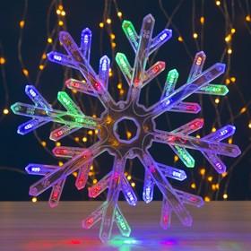 "Фигура ""Снежинка"" d=30 см, пластик, 40 LED, 220V, контрол. 8р. МУЛЬТИ"