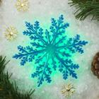 "Световая картинка на присоске ""Снежинка""(батарейки в комплекте), оптоволокно, 1 LED, RGB"