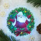 """Световая картинка на прищепке """"Санта""""(батарейки в комплекте), оптоволокно, 1 LED, RGB"""