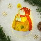 """Световая картинка на магните """"Снеговик рождественский""""(батарейки в комплекте), 1 LED, RGB"""