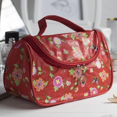 Косметичка сумка Фэнтэзи, 20*9,5*12см, отдел на молнии, красный