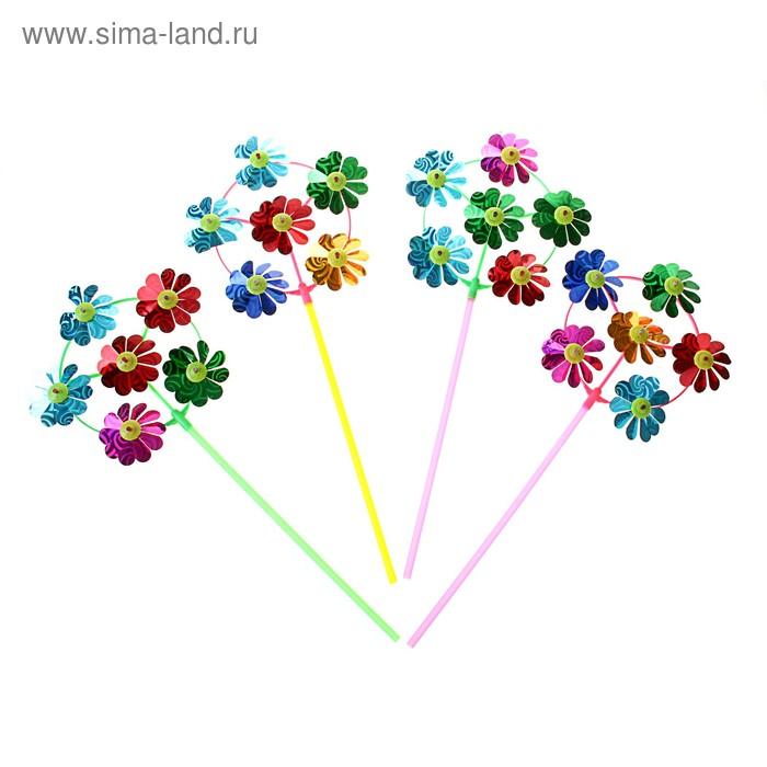"""Ветерок """"Цветочек"""" шесть элементов, цвета МИКС"""