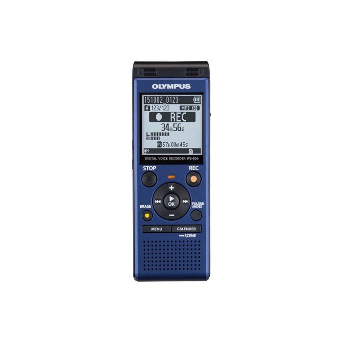 Диктофон Цифровой Olympus WS-806, 4 Гб, синий