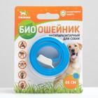 Биоошейник антипаразитарный ПИЖОН для собак от блох и клещей, синий, 65 см