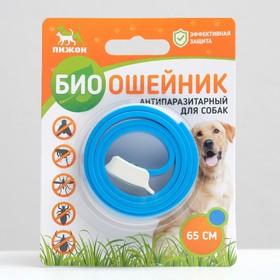 Биоошейник антипаразитарный ПИЖОН для собак от блох и клещей, синий, 65 см Ош
