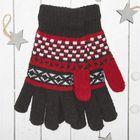 """Перчатки с шерстью молодёжные Collorista """"Домино"""", размер 20, цвет бордовый (вид 1)"""