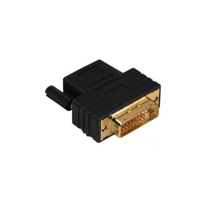 Адаптер видео Hama Compact DVI-D 00122237, Dual Link (m), HDMI (f), черный