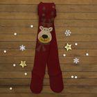 """Колготки детские Collorista """"Новый год"""", рост 98-116 см, цвет бордовый"""