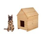 Будка для собаки, 80 × 60 × 100 см, деревянная, с крышей