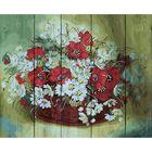 """Роспись по дереву """"Полевые цветы"""", 40 × 50 см"""
