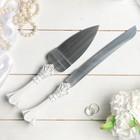 """Набор для торта """"Принцесса"""" из ножа 32см и лопатки 26см, полистоун"""