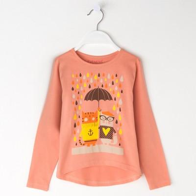 Джемпер для девочки, рост 98-104 см (28), цвет оранжевый 50011