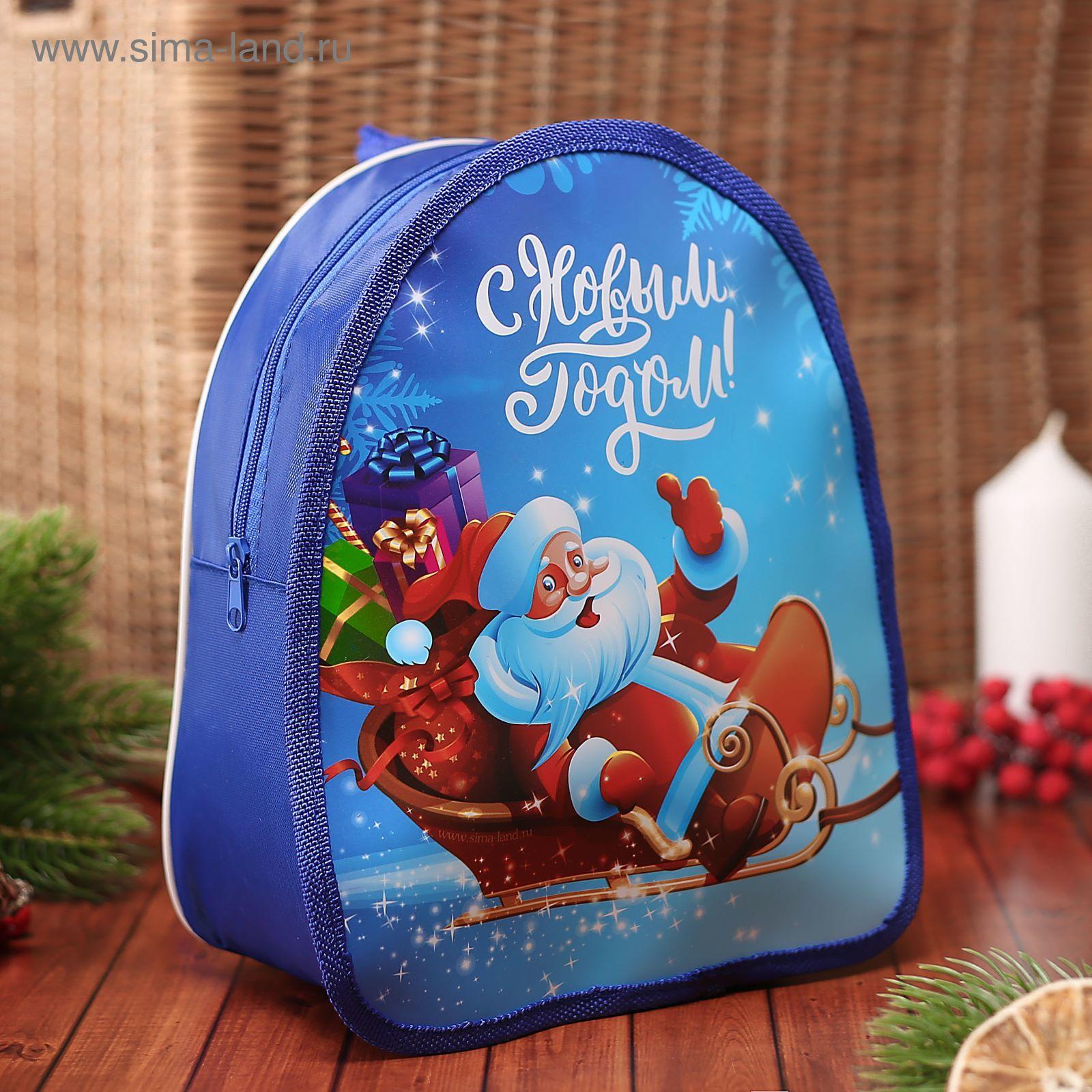 Фото дед мороз с рюкзаком рюкзаки arena купить