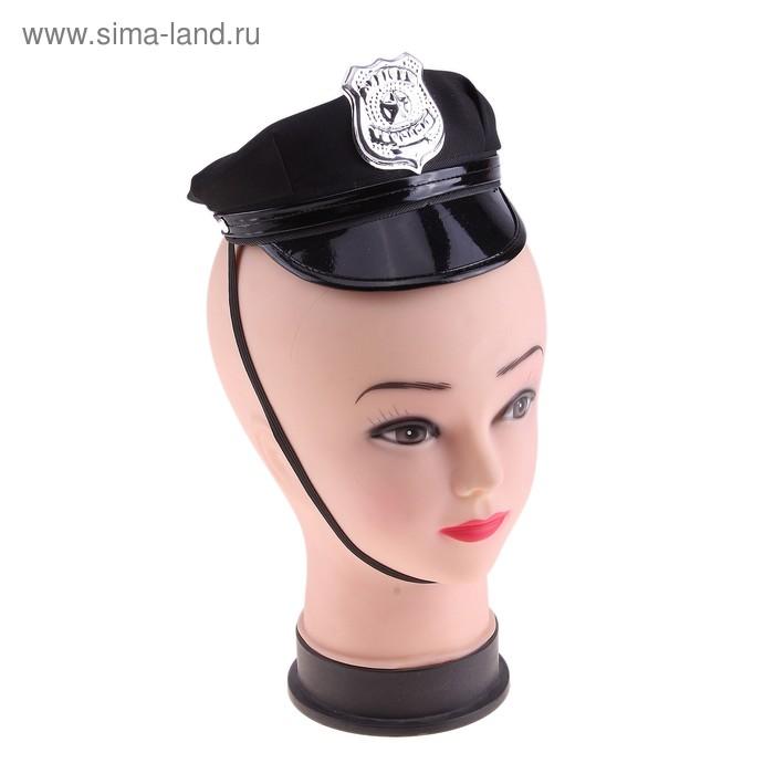 """Шляпка-мини на резинке """"Полицейская"""""""
