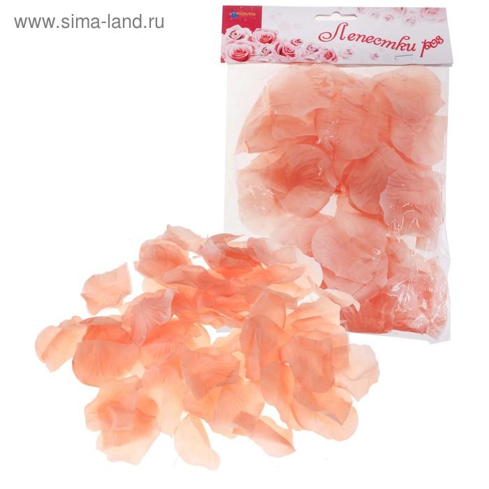 Лепестки роз, цвет персиковый