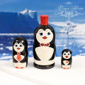 """Матрешка 3 кукольная """"Пингвин"""" 11см"""