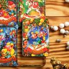 Магнит новогодний деревянный «Счастья в дом» с голографией, 6 х 4 см, Символ Года 2018, микс