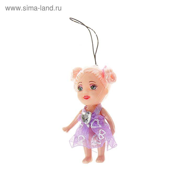 """Игрушка-подвеска """"Кукла"""" с большим бантом на груди, цвета МИКС"""