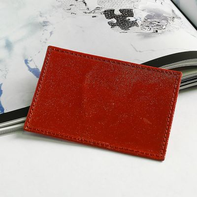 Футляр для карточки, анилин, цвет красный