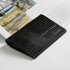 Обложка д/паспорта П-21, 9,5*0,5*13,5, ящер черный
