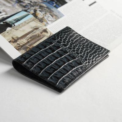 Обложка для паспорта, 5 карманов для карт, кайман, цвет синий