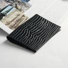 Обложка для паспорта П-22, 19,5*1*13,5, д/карт, крокодил 11 темно-синий