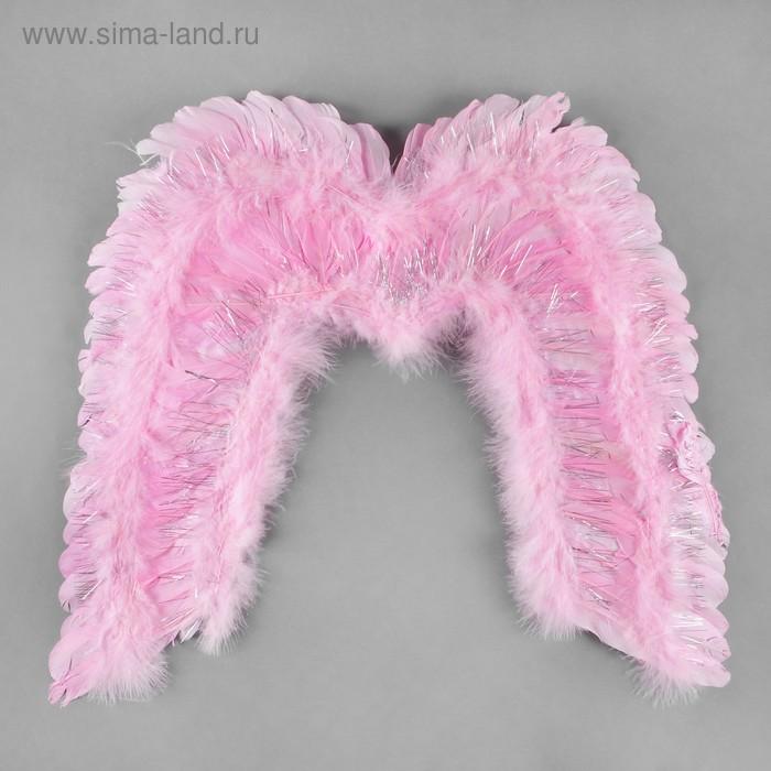 Крылья ангела с блёстками, цвет розовый