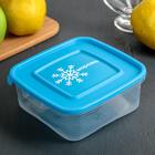 """Контейнер для замораживания продуктов 0,7 л """"Морозко"""", цвет голубой"""