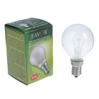 Лампа накаливания Favor ДШ, Е14, 40 Вт, 230 В, матовая