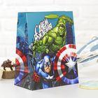 """Пакет ламинированный вертикальный """"С Днем рождения, супергерой!"""", Мстители, 18 х 23 х 10 см"""