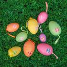 """Сувенир - пасхальное яйцо """"Цветочки"""" (набор 9 шт)"""