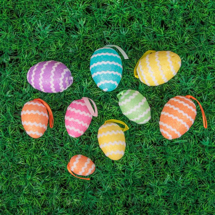 """Сувенир - пасхальное яйцо """"Спиралька"""" (набор 9 шт)"""
