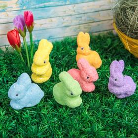 """Сувенир """"Разноцветные пасхальные кролики"""" (набор 6 шт)"""