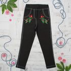 Брюки (Джеггинсы) для девочки, рост 104 см, цвет  чёрный 10154