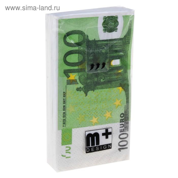 """Носовые платки бумажные """"100 евро"""""""