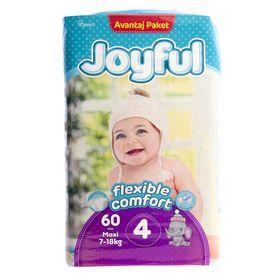 Подгузники «Joyful» Maxi, 7-18 кг, 60 шт/уп