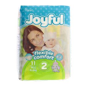 Подгузники «Joyful» Mini, 3-6 кг, 11 шт/уп