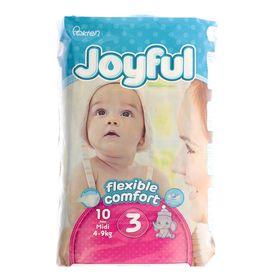 Подгузники «Joyful» Midi, 4-9 кг, 10 шт/уп
