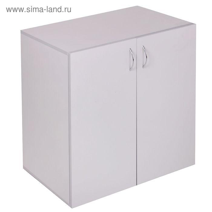 Шкаф низкий 780х800х400  Светло серый