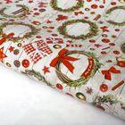 Бумага упаковочная глянцевая «Новогодние венки», 70 х 100 см