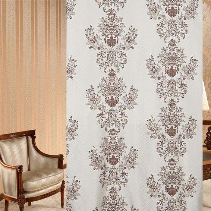 Ткань портьерная в рулоне, ширина 280 см, жаккард 86122