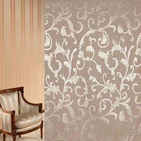 Ткань портьерная в рулоне, ширина 150 см, жаккард 83931