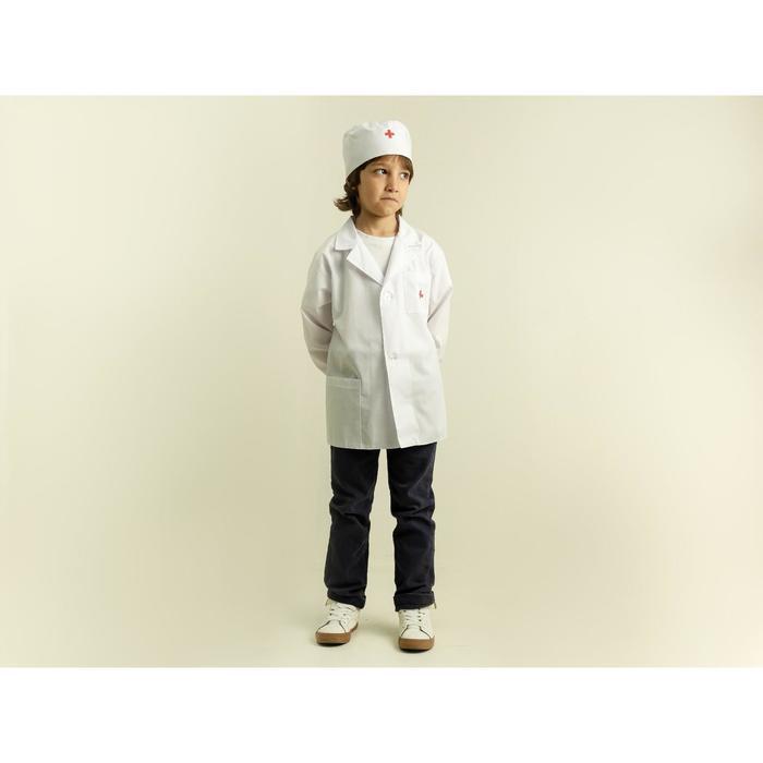 """Карнавальный костюм """"Доктор"""", халат, шапочка, рост 110-128 см"""