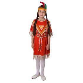 Набор ролевых игр 'Костюм индейца' для девочки, платье, гол. убор, поясок, р.122-128 Ош