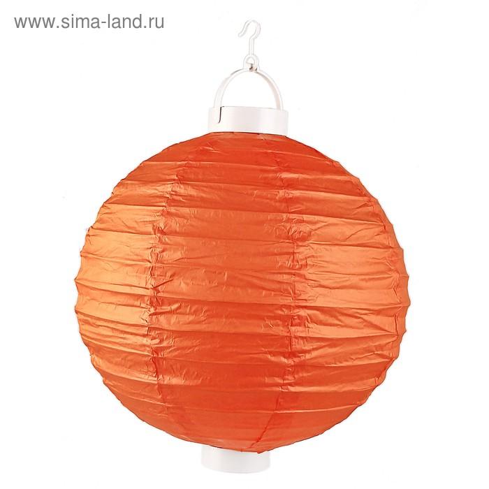 Китайский фонарик, световой, цвет оранжевый
