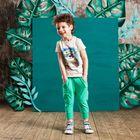 """Футболка для мальчика """"Ленивец в очках"""", рост 116 см, цвет бежевый 132-006-05"""