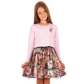 """Платье для девочки """"Романс"""", рост 116 см, цвет розовый, принт розы ДПД587728"""