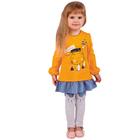 """Джемпер для девочки """"Мурлыка"""", рост 98 см, цвет оранжевый, принт кот ДДД040067"""