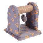 Когтеточка с игрушкой для котят, 26 х 26 х 28 см, джут, МИКС